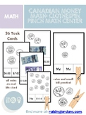 Canadian Money Math: Clothespin Pinch Coin & Small Bill Activity