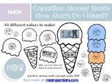Canadian Money Math: How Much Do I Need? Ice Cream Stacks