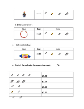 Canadian Money Math Quiz