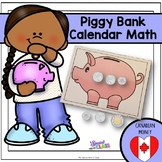 Canadian Piggy Bank Calendar Math