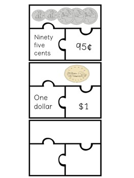 Canadian Money Puzzle Piece Centre/Game