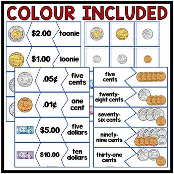Canadian Money Puzzles | Colour + B&W