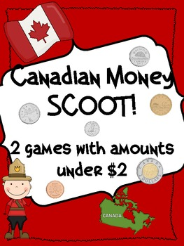Canadian Money Scoot! 2 Games with Amounts under $2