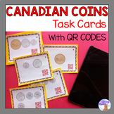 Canadian Money Task Cards with QR Codes