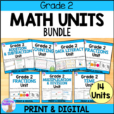 Grade 2 Math Units FULL YEAR BUNDLE (Based on the Ontario Curriculum)