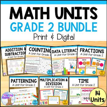 Grade 2 Math Units GROWING BUNDLE (Ontario Curriculum)