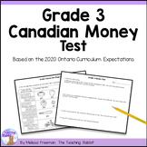Canadian Money Test (Grade 3)