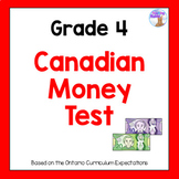 Grade 4 Canadian Money Test