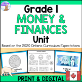 Canadian Money Unit for Grade 1 (Ontario Curriculum)