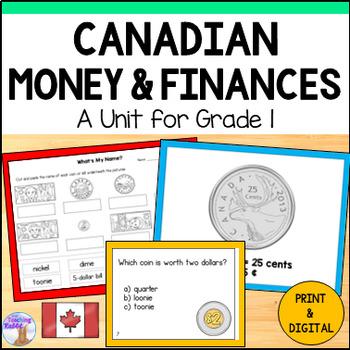 Canadian Money Unit for Grade 1 (Ontario Curriculum)