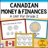 Canadian Money Unit for Grade 2 (Ontario Curriculum)