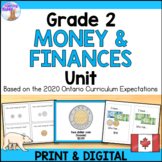 Canadian Money Unit for Grade 2 (Ontario Curriculum)