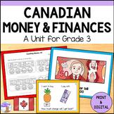 Canadian Money Unit for Grade 3 (Ontario Curriculum)