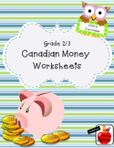 Canadian Money Worksheets - Grade 2/3