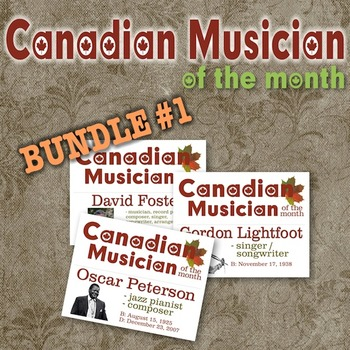 Composer / Musician of the Month - Canadian Ed. Bulletin Board Set - BUNDLE#1