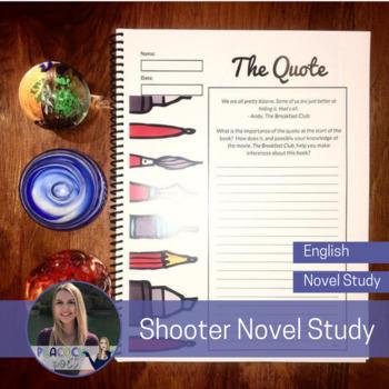 Canadian Novel Study - Shooter by Caroline Pignat