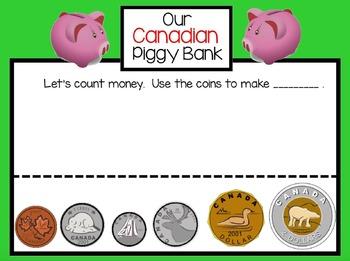 Canadian Piggy Bank Freebie for SMARTboard