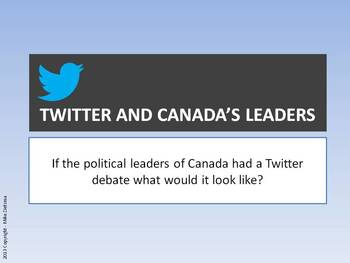 Canadian Political Leaders Twitter Debate
