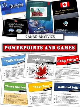 Canadian Civics:  Powerpoint Lecture Bundle