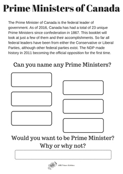 Canadian Prime Ministers