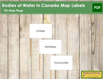 Canadian Provinces - Pin Map Flags