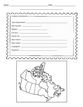 Canadian Provinces Postcard Template