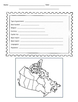 Canadian Provinces Postcard Template