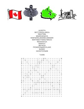 Canadian Provinces & Territories: Atlas Search