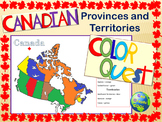 Canadian Provinces & Territories Color Quest