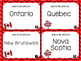 Canadian Provinces and Capital Cities Task Cards