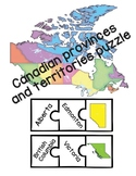 Canadian Provinces and Territories Puzzle