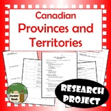 Canadian Provinces and Territories Research Project (Social Studies)