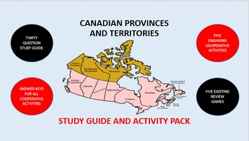 Canadian Provinces and Territories: Study Guide and Activity Pack
