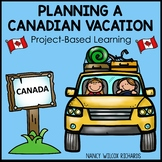 Canada Map and Math, Plan a Vacation Trip Activity Distanc