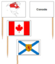 Canadian Provincial Flags - Pin Map Flags