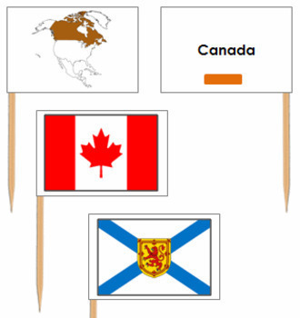Canadian Provincial Flags - Pin Map Flags (color-coded)