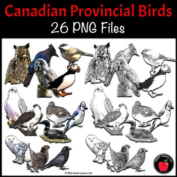 Canadian Provincial Symbols: Birds for Canadian Provinces and Territories
