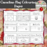Canadian Provincial/Territorial Flags Colouring Pages