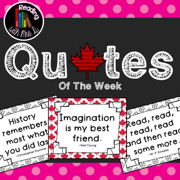 Canadian Quotes of the Week