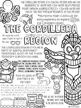 Canadian Regions Coloring Pages