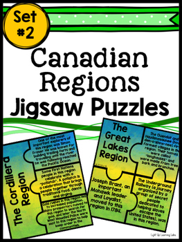 Canadian Regions Jigsaw Puzzle: Set #2