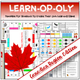 """Canadian Regions: """"Learn-opoly"""" Student-Created Game Template & Research Project"""