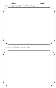 Canadian Regions Planning Sheet
