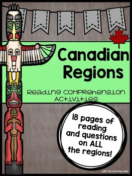 Canadian Regions: Reading Comprehension Bundle