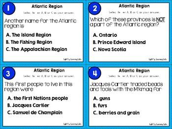 Canadian Regions Task Card Bundle