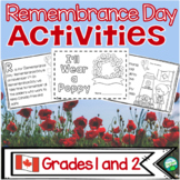 Canadian Remembrance Day Activities - Grade 1 and 2