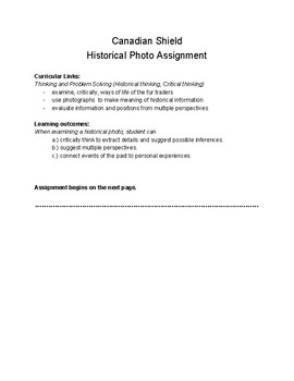 Canadian Shield Historical Photo Assignment