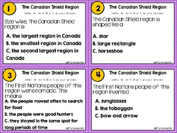 Canadian Shield Task Cards