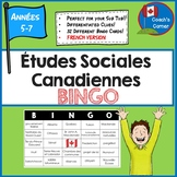 Canadian Social Studies Bingo - FRENCH Version