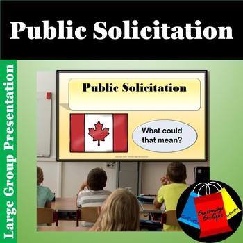 Ontario Social Studies Public Solicitation in Canada